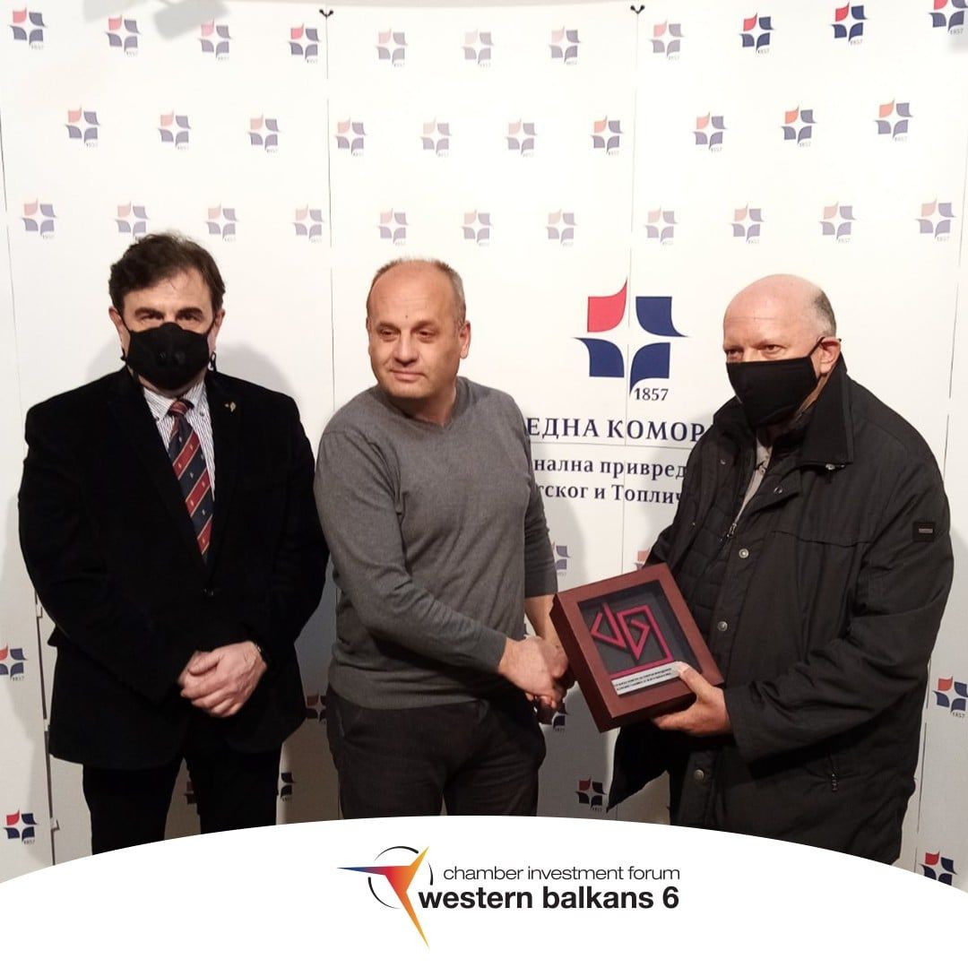 Vice President Azeski awarded recognition to the President of the Regional Chamber in NiŠ